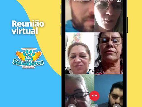 ONG SALVADORES reúne voluntários em reunião virtual