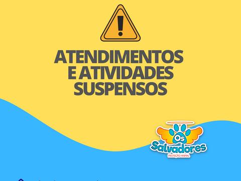 NOTA: Suspensão das atividades