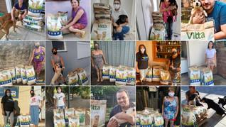 ONG SALVADORES reparte 1.8 toneladas de ração recebida da Rede de Lojas Cobasi