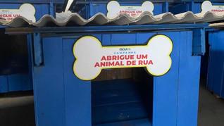 Campanha da Prefeitura de Taquari confecciona casinhas para abrigar animais de rua