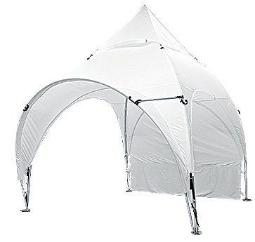 10' x 10' Arched Canopy Awning - White Only