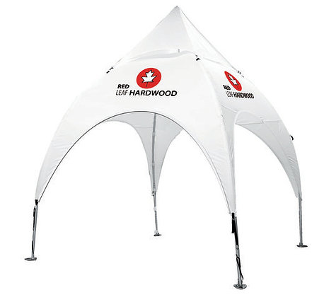 10' x 10' Arched Canopy and Frame - White