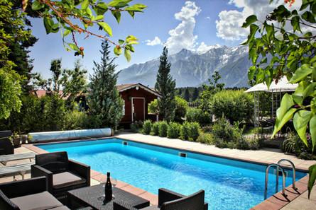 Urlaub Mieming Pension Seelos Pool