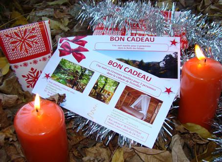 Aux amoureux de la nature, Offrez un cadeau qui plaira : Un Bon cadeau dans la Cabane de Peyrolles.