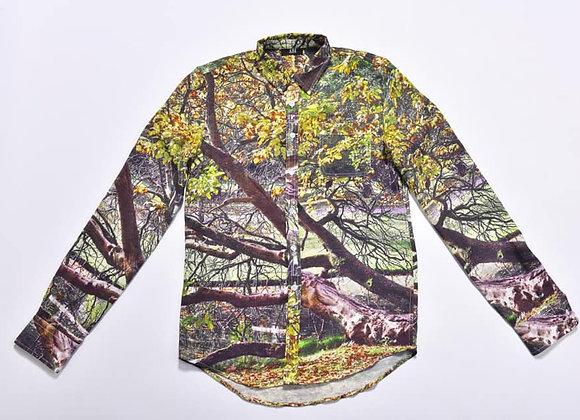 SHM01_Button-Down Collar Printed Shirt
