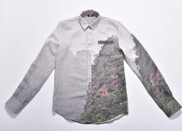 SHM02_Button-Down Collar Printed Shirt