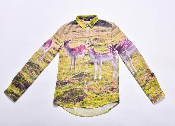 SHM03_Button-Down Collar Printed Shirt