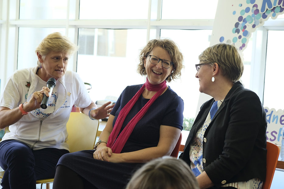 Panel discussions with Lorraine, Sue and