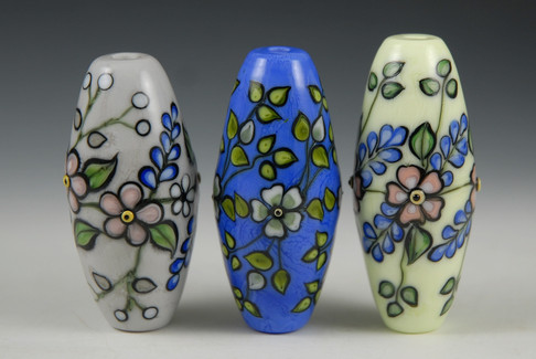Japanese Florals Beads Grouping 1