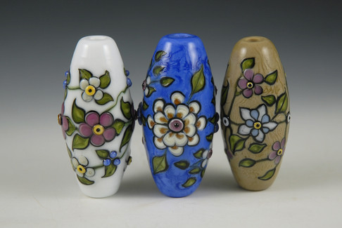 Japanese Floral Beads Grouping 2