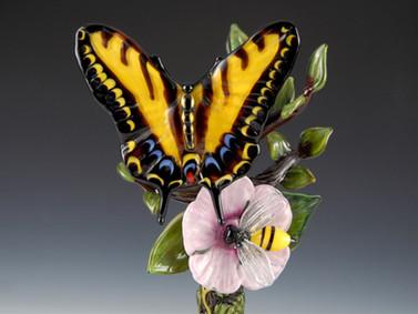 Tiger Swallowtail & Bee