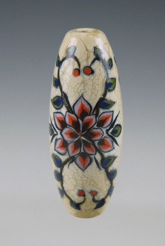 Rosemaling Bead - Ivory