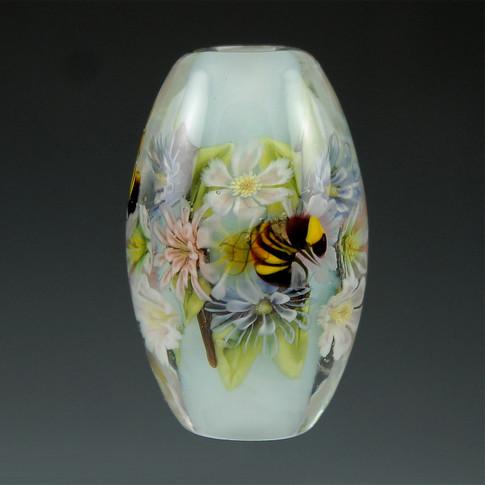 Floral & Bee Murrini Bead
