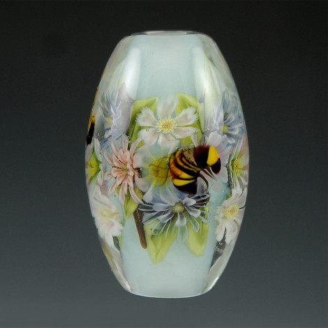 Floral & Bee Murrini Bead