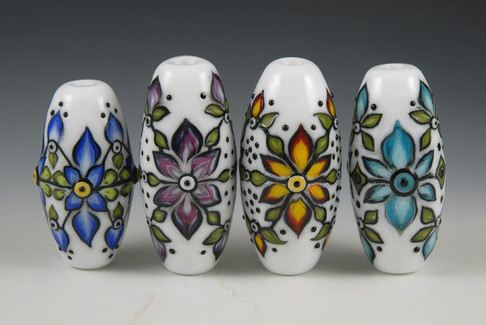 Graphic Floral Beads Grouping