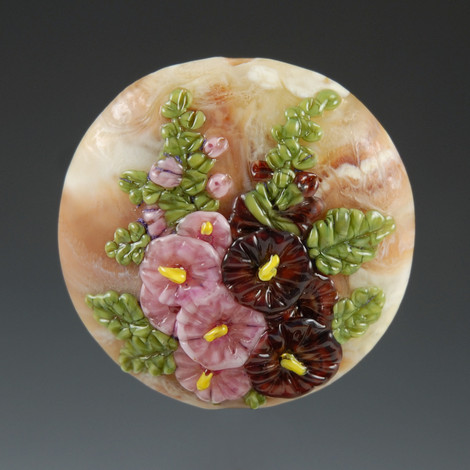 Hollyhocks Bead