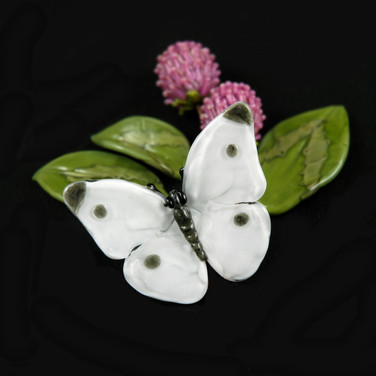 Cabbage Butterfly & Clovers