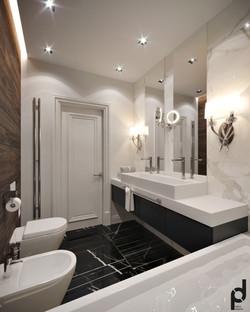 Интерьер ванной 2 этажа