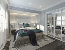 Спальня со входом в  гардеробную