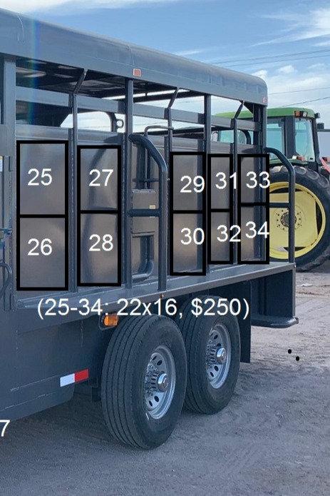 Driver's Side - Side Panel Trailer Sponsorship