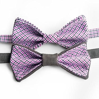 Purple Plaid Suit Ties