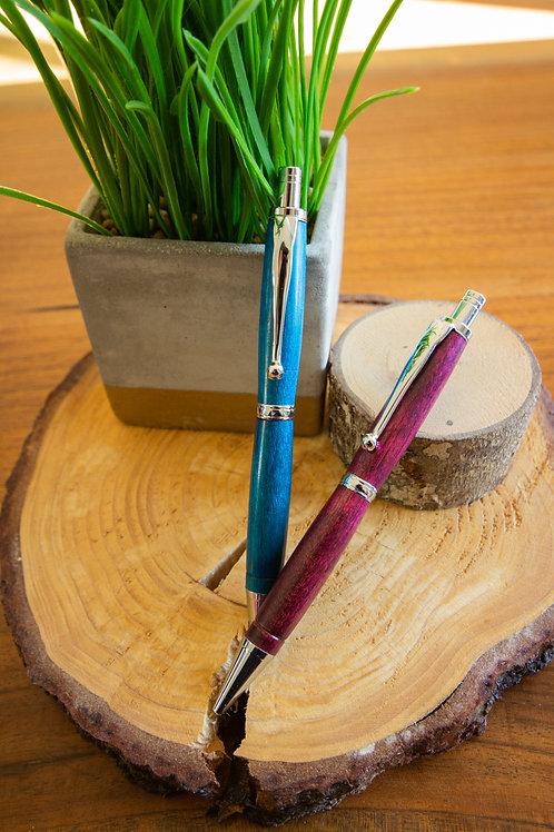 Turquoise & Plum Click Pens
