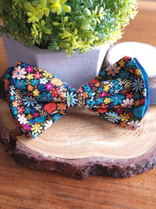 Flower Party - Luxury 3 Layer Bow Tie