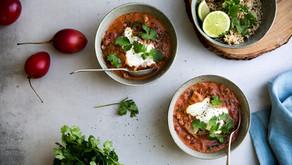 Chicken, Tamarillo & Chilli Curry with Coriander Yoghurt