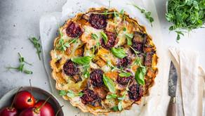 Tamarillo, Gorgonzola, Butternut & Mozzarella Tart