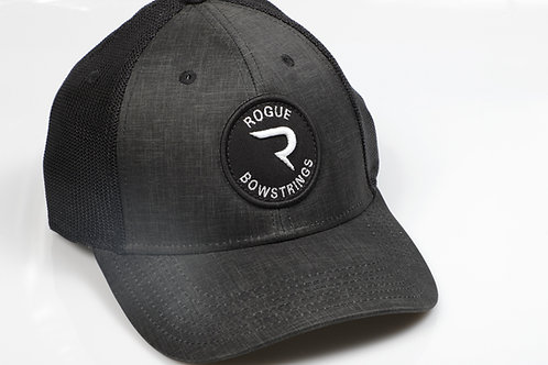 "Charcoal & Black Circle Patch Classic Rogue ""R"" Hat -  FlexFit Hat"