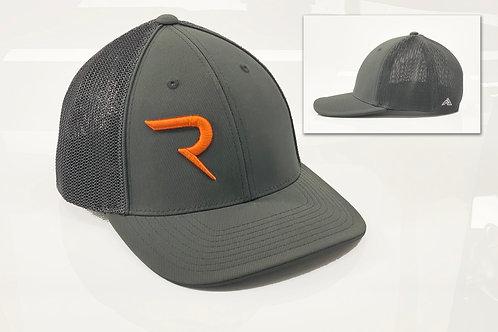 """Rogue Limited Run -  Burnt Orange """"R"""" on Grey -  FlexFit Hat"""