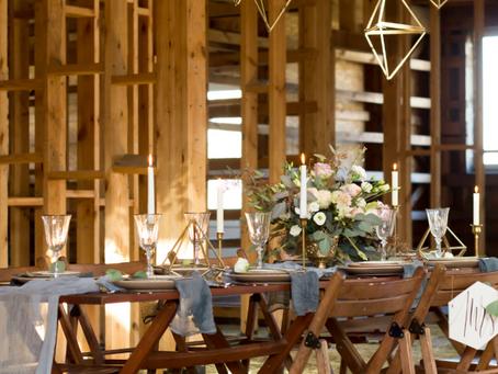 Romantická svatba ve stodole