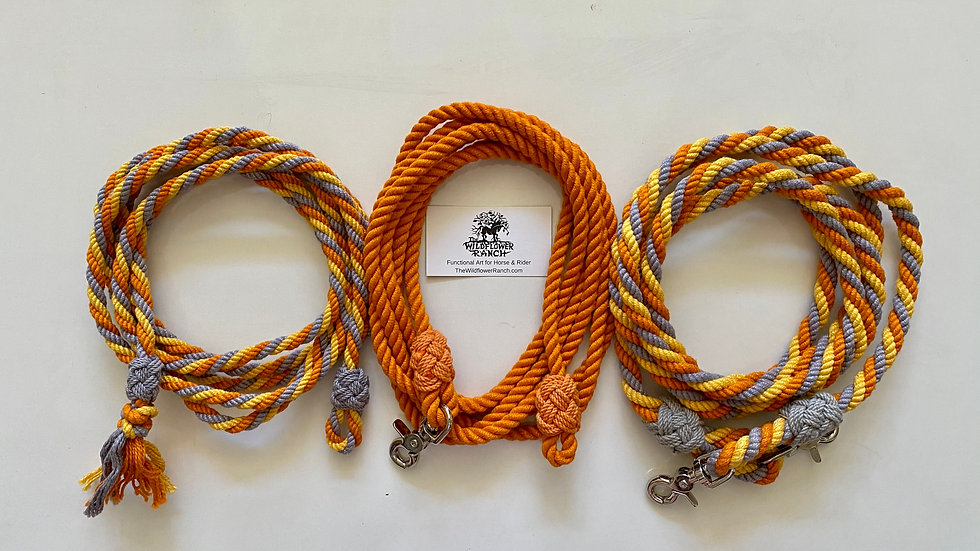 Barrel or Cow Rein ~ Set Cable Laid twist