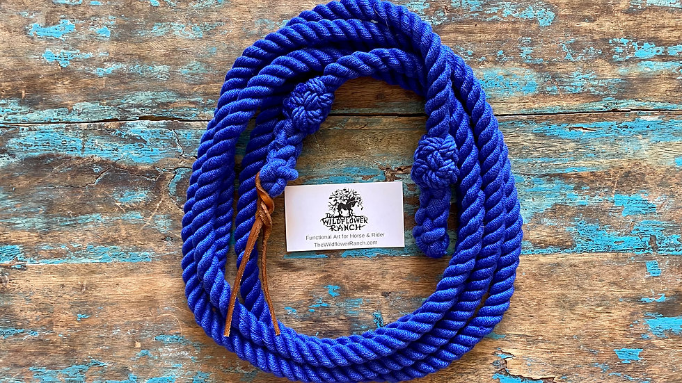 Royal Blue Cotton Get Down Rope