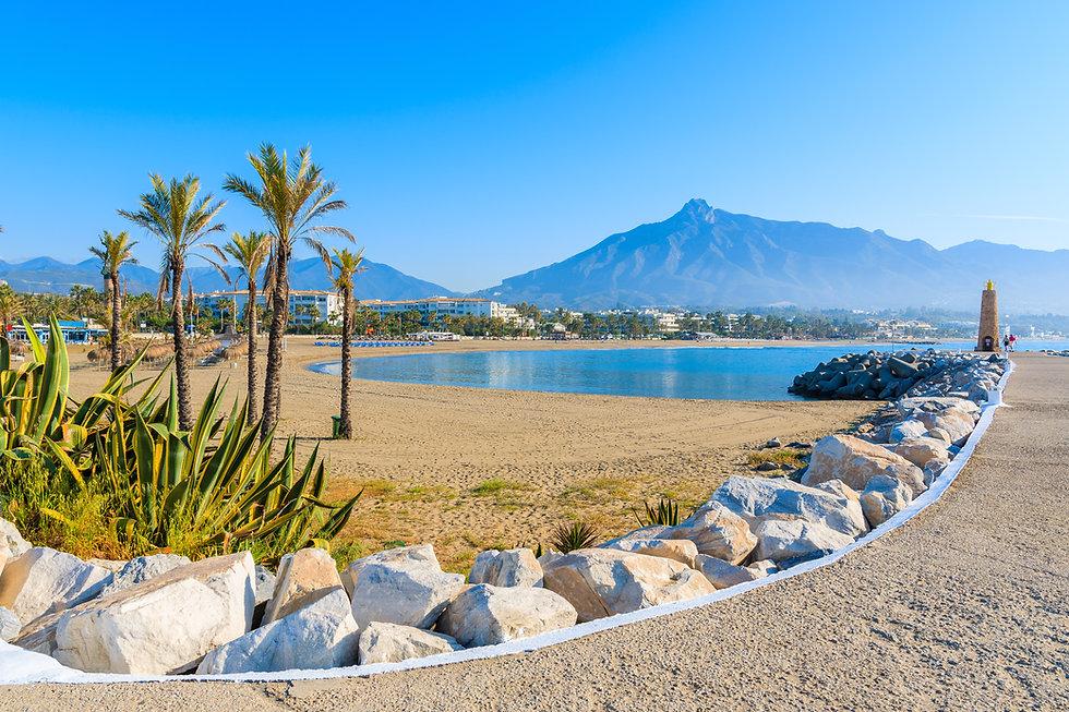 Marbella golden mile, beach view