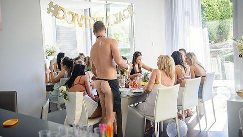 cheeky butler in villa. enjoy the company of a butler in the buff for your party in Puerto Banus