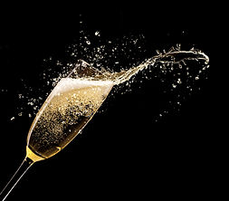 have a glass of champagne after a relazing massage with chill-out music