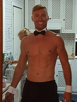 naked butler for the bride to be