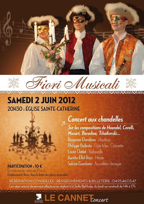 Trio musical baroque en costumes vénitiens