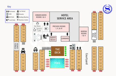 Sheraton Floor Map - All floors 8.5 x 5.