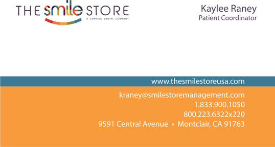 SMILE STORE BUSINESS CARD Kaylee Raney F