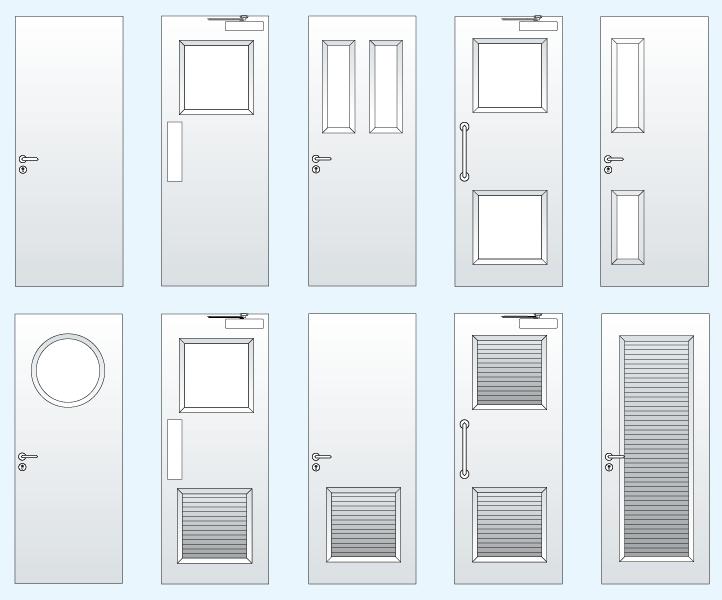 Common Personnel single door types