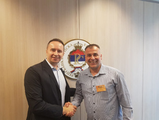 RS Sports ambassador pays a visit to Brussels