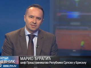 Video: Mr Mario Đuragic, Head of the Republic of Srpska Representation in Brussels for RTRS