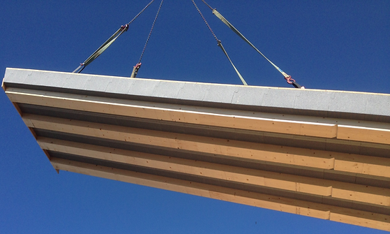 Holzbau Dach Dachkonstruktion Leimholz Sparren Dämmung