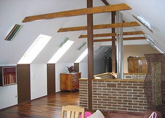 Elementdach Fertigdach Fertigteildach Wohnen unterm dach Dachausbau Dachgeschossausbau Dachkonstruktion gedämmtes dach aufdachdämmsystem Dachdämmelemente Dachelemente Dachstuhl Dachdämmung Dachkonstruktion Elementdach Passivhausdach