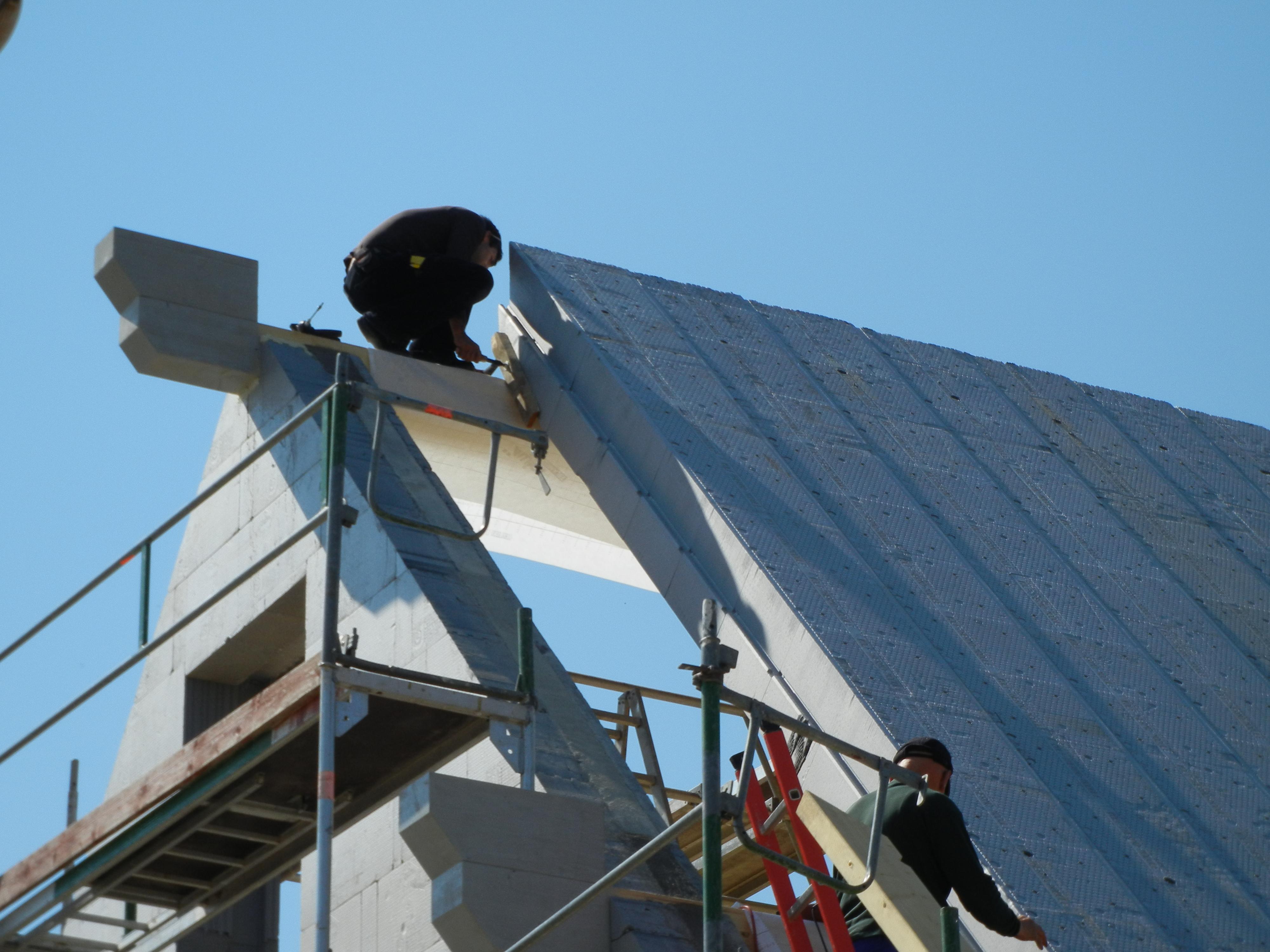 fixieren der fertigen Dachteile