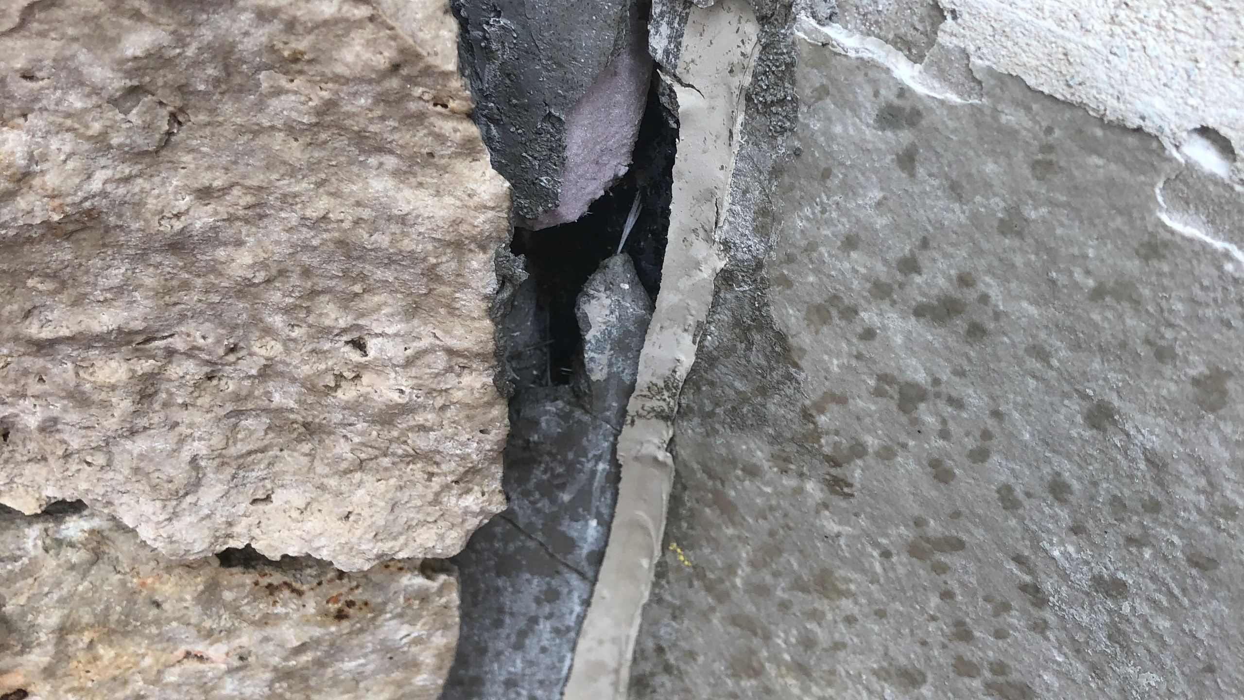 Caulk or repair any cracks