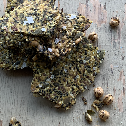 Turmeric seeded crackers