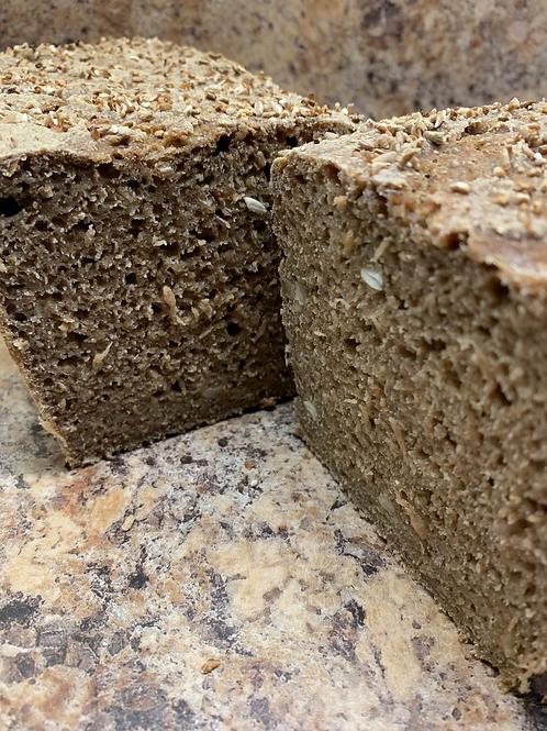 Seeded 100% rye sourdough